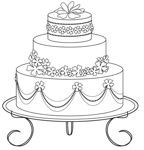 wedding cake coloring pages printable coloringstar