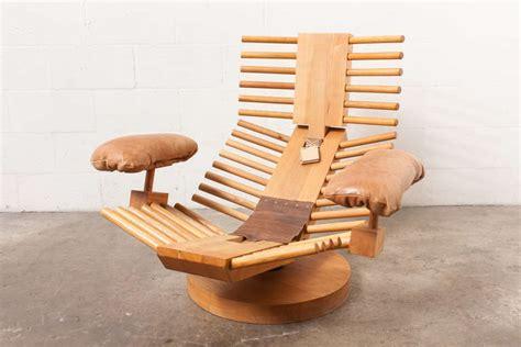 gerard van den berg attributed  fishbone lounge chair
