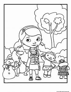Printable Doc Mcstuffins Coloring Pages For KidsFree