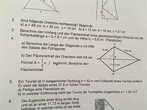 Satz Des Pythagoras Kathete Berechnen : satz des pythagoras satz des pythagoras drachenviereck mathelounge ~ Themetempest.com Abrechnung