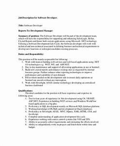 11 software engineer job description templates pdf doc With example of a job description template