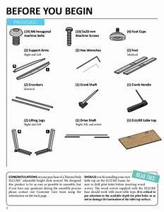 Thermodesk Ellure Manual Height Adjustable Desk