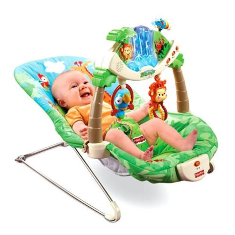 fisher price rainforest bouncer rock sit play sleep baby