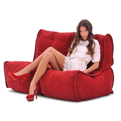 Bean Bag Loveseat by 2 Seater Sofa Designer Bean Bag Fabric