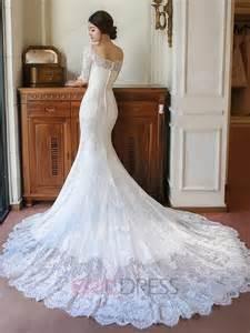 dressy dresses for weddings ericdress scoop half sleeves lace mermaid wedding dress wedding dresses 2016 ericdress
