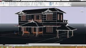Autocad Double Storied 3d House