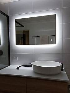 Luxe, Rectangle, Backlit, Led, Mirror, With, Demister