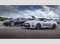 Top Gear drag races Tesla Model S P90D vs Nissan GTR