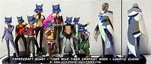 Ninjatoes' papercraft weblog: Papercraft Tiger & Bunny