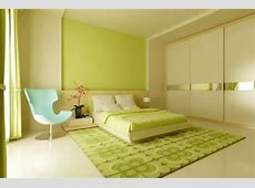 White Wooden Bed With Lime Green Bedding Set On The Lime