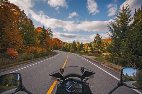 Foliage-packed Motorcycle Routes