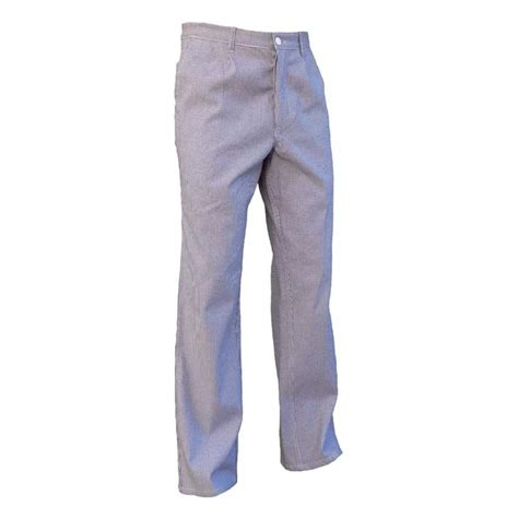 pantalon de cuisine pantalon de cuisine en coton pied de poule bleu et blanc