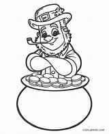 Leprechaun Coloring Pages Pot Gold Printable sketch template