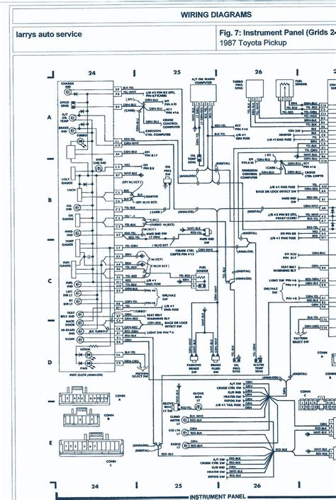 toyota pickup wd  engine wiring diagram auto