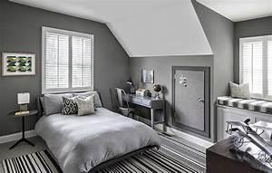 Gray, Boys, Bedrooms, -, Contemporary