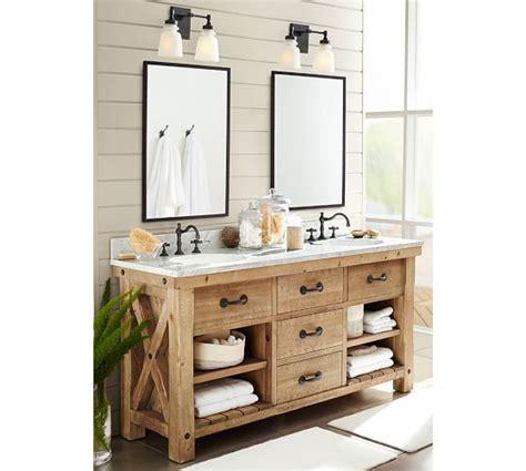 kitchen bathroom cabinets benchwright reclaimed wood sink vanity wax pine 2299