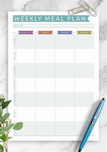 Meal Weekly Plan Planner Templates Printable Casual