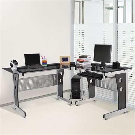 bureau table verre bureau informatique table pour ordinateur table de travail
