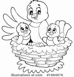 Bird Clipart #1094076 - Illustration by visekart