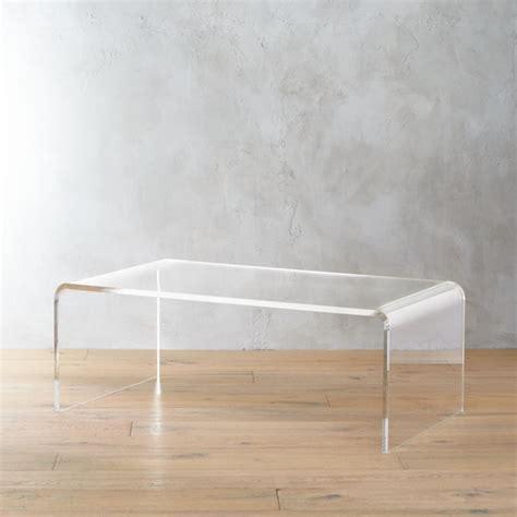 peekaboo acrylic tall coffee table  coffee tables