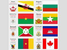 World Flags And Capitals Set 4 Stock Vector Image 30141023