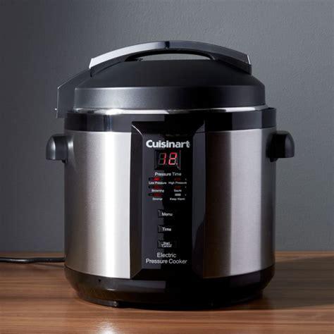 cuisinart  quart electric pressure cooker crate  barrel