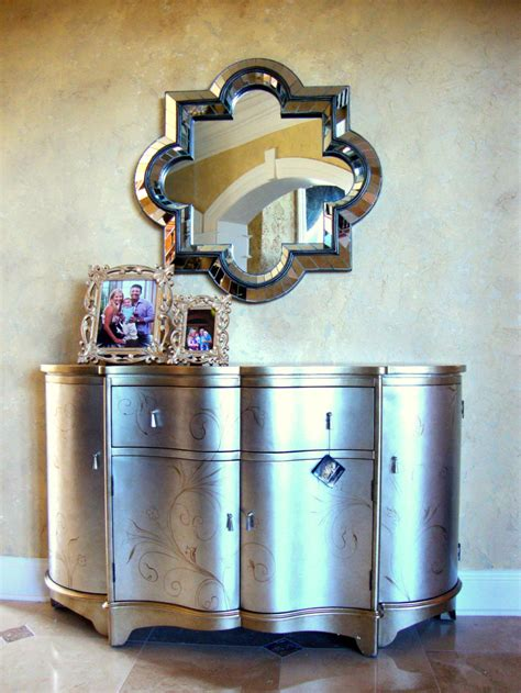 wall mounted entry table luxury entry way decoration features silver gold small