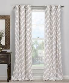 gray behrakis chevron curtain set of two