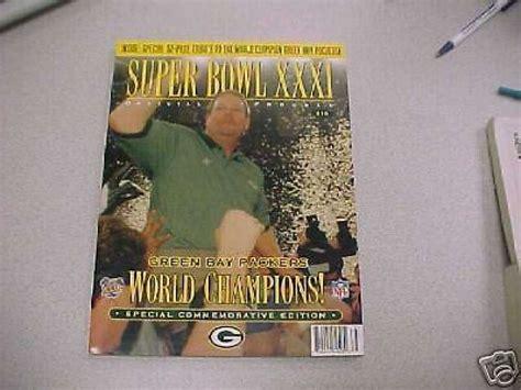 1997 Super Bowl Xxxi Packers Commemorative Program Ebay