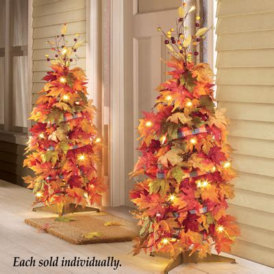 lighted collapsible harvest tree  collections