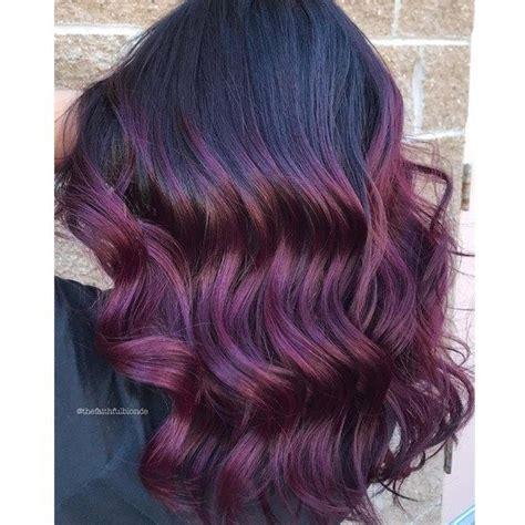 deep plum balayage   haircolor formulas vivid
