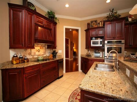 Kitchen Wall Colors With Dark Cabinets Cherry Wood Color