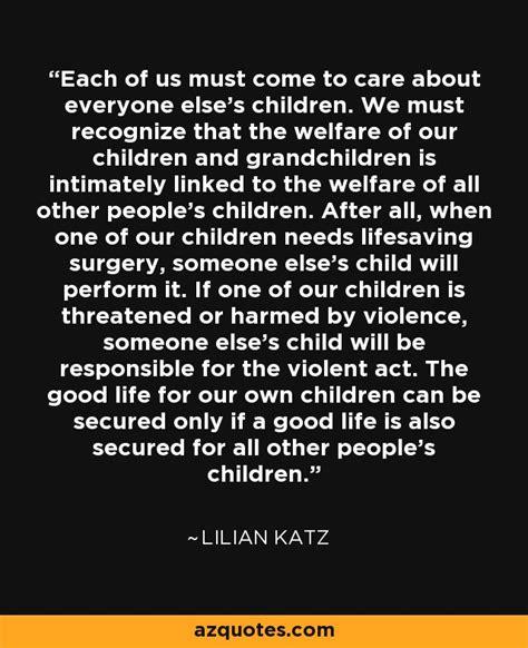 lilian katz quote       care