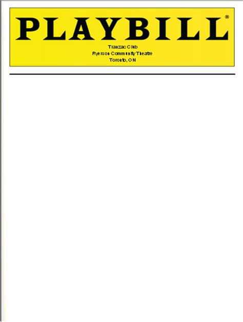 playbill template librarian at ryerson community theatre performances march 4 2015 to april 3 2015 cover