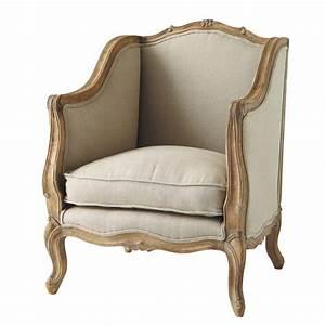Fauteuil Maison Du Monde : fauteuil en lin archibald maisons du monde ~ Teatrodelosmanantiales.com Idées de Décoration