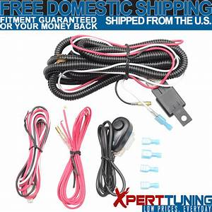Led Fog Lights Running Lamps Wiring Harness Switch Fuse
