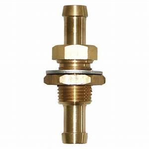 Seasense U00ae 50052380  8 U0026quot  Barb X 3  8 U0026quot  Barb Bulkhead Brass