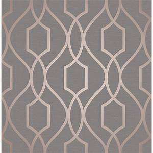 Apex Trellis Sidewall Wallpaper - Copper Wallpaper - B&M