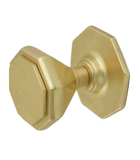 bouton de tirage hexagonal pour porte d entr 233 e laiton