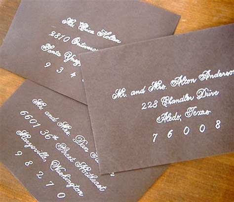 diy wedding idea faux fancy handwriting design sponge