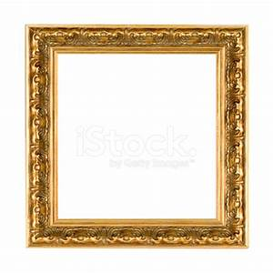 Antique Square Gold Picture Frame stock photos ...