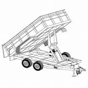 6 U20194 U2033 X 12 U2032 Hydraulic Dump Trailer Plans  U2013 Model 12hd