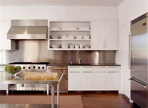how to make the most of stainless steel backsplashes With kitchen colors with white cabinets with mid century modern metal wall art