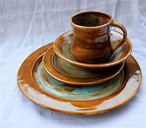 Home Accessories: Green Spotted Stoneware Dinnerware Sets