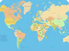 HD World Map with Countries