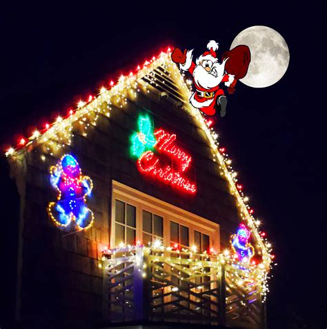 santa on the rooftop free stock photo public domain pictures