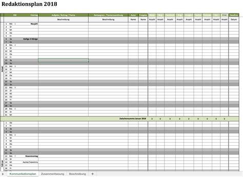 kostenloser redaktionsplan fuer  excel vorlagen fuer
