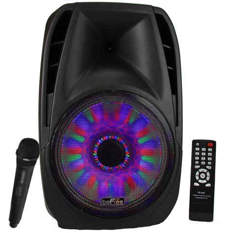 Speakers With Lights by Befree Sound 15 Inch Bluetooth Tailgate Speaker With Sound