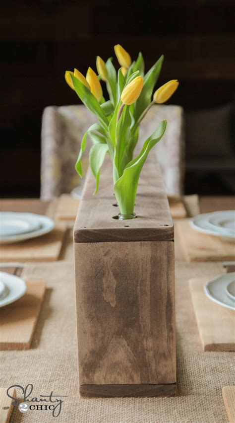 diy glass bottle wood vase shanty  chic