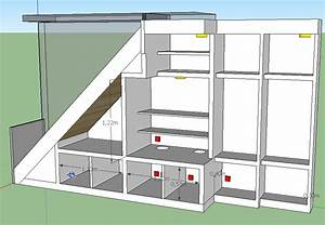 Fabriquer un meuble sous escalier la solution kinook for Meuble sous escalier